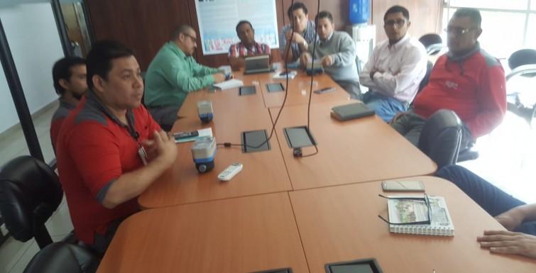 Reunión con Director de Empresa Sanitaria Guayaquil Interagua, Ecuador.