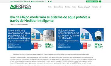 AdPrensa - Medidor Inteligente de Agua Potable -Isla de Maipo