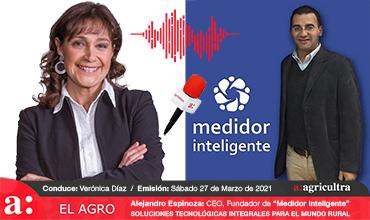 """Entrevista, Programa """"El Agro"""", Radio Agricultura: Alejandro Espinoza, CEO, Fundador """"Medidor Inteligente"""", Soluciones Tecnológicas Integrales, para el Mundo Rural."""
