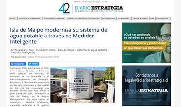 Diario Estrategia - Isla de Maipo moderniza su sistema de agua potable a través de Medidor Inteligente