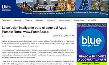 La solución inteligente para el pago del Agua Potable Rural: www.PuntoBlue.cl