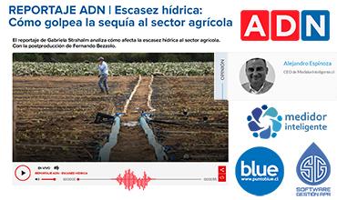 REPORTAJE RADIO ADN | Escasez hídrica: Cómo golpea la sequía al sector agrícola | Opina: Alejandro Espinoza, CEO de Medidor Inteligente